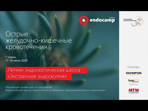"""Endocamp 2020-2021. Первая смена """"Острые желудочно-кишечные кровотечения"""" (день 2)"""