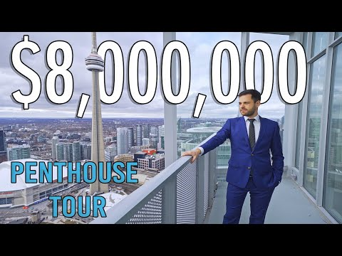 Touring inside an $8 Million Toronto Penthouse with INSANE views