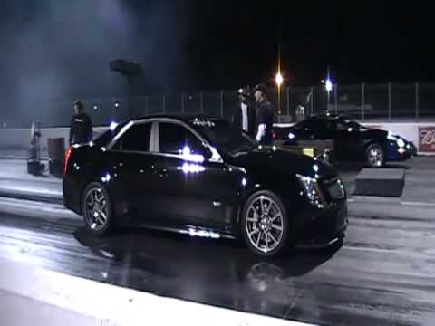 Cadillac Cts V Drag Racing Runs In The 9 S Youtube