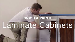 How to paint laminate kitchen cabinets?