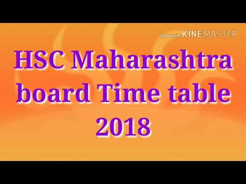 Baravi Commerce ani science che velapatrak    12th science and commerce timetable 2018