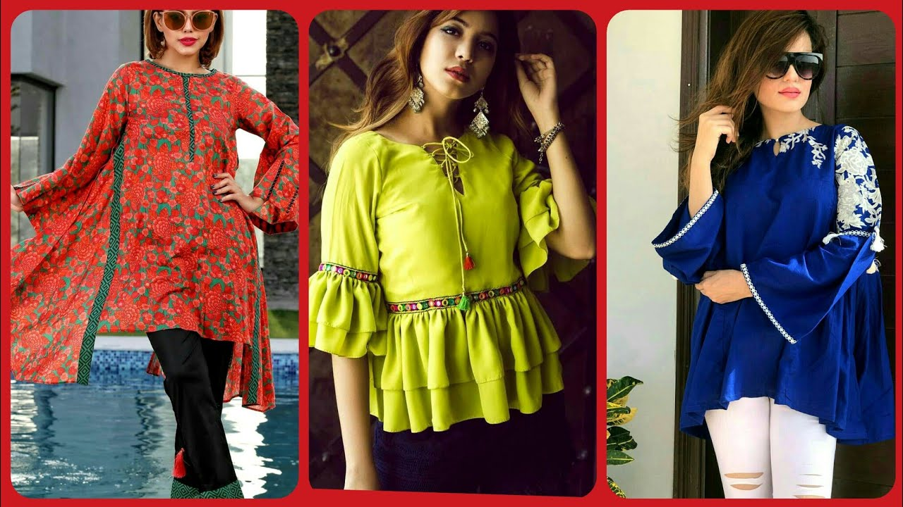 Latest Top Stylish summer kurtis Style For Girls //Casual Wear Summer outfit Ideas 2019