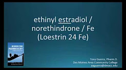 How to pronounce ethinyl estradiol norethindrone iron (Memorizing Pharmacology Flashcard)