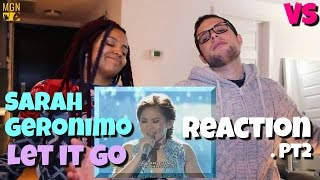 Sarah Geronimo - Let It Go (Frozen Soundtrack) - VS - Reaction Pt.2