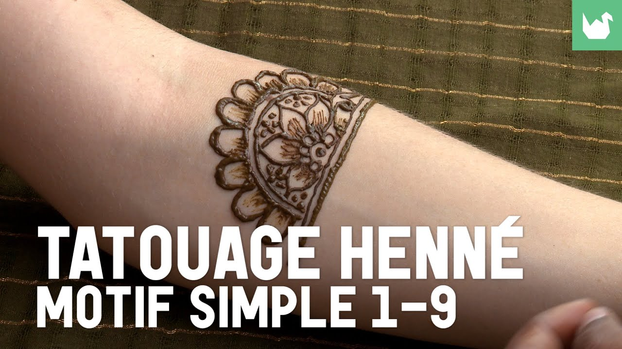 Tatouage Henne Motif Simple 1 9 Tatouage Au Henne Youtube