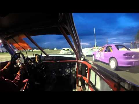 5/1/15 Lee County Speedway IMCA Sport Compact Feature On Board 77K