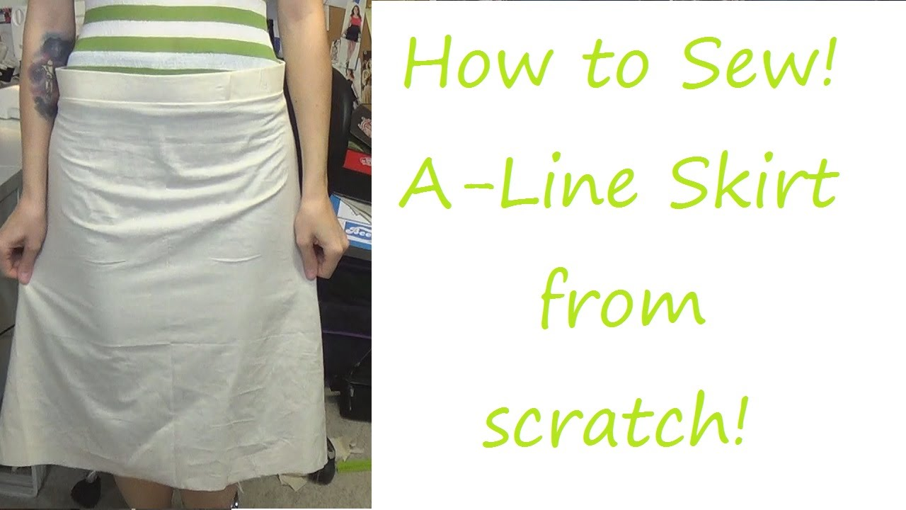TUTORIAL!: A-Line Skirt! | Sewing Nerd! - YouTube
