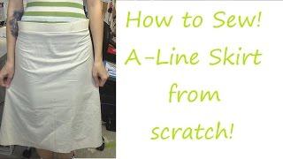 TUTORIAL!: A-Line Skirt! | Sewing Nerd!
