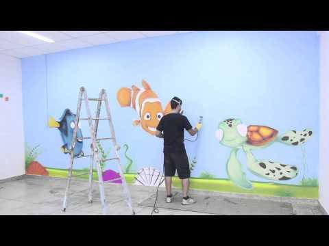 Pintura fundo do mar youtube - Pintura lavable para paredes ...