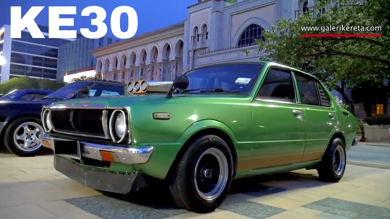 Awesome Green Toyota Corolla Ke30 3rd Generation Old School Car Modified Restoration You