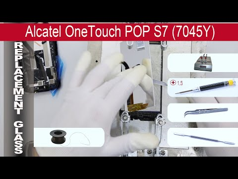 How to replace 🔧 the touchscreen Alcatel One Touch POP S7 7045Y