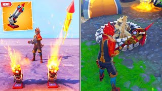 New BOTTLE ROCKETS & CAMPFIRES in Fortnite..