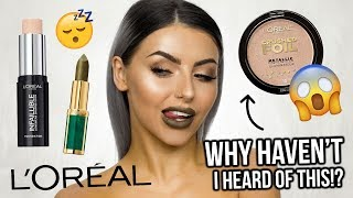 TESTING L'OREAL MAKEUP! IS IT WORTH THE HYPE? FULL FACE OF FIRST IMPRESSIONS + REVIEW