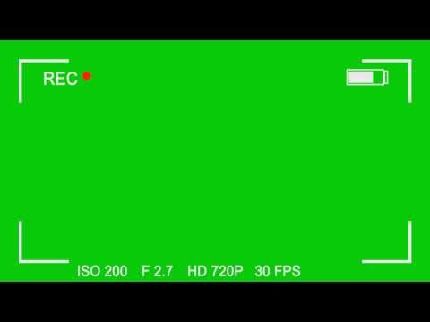 free-green-screen-overlay-#8---video-camera-recording