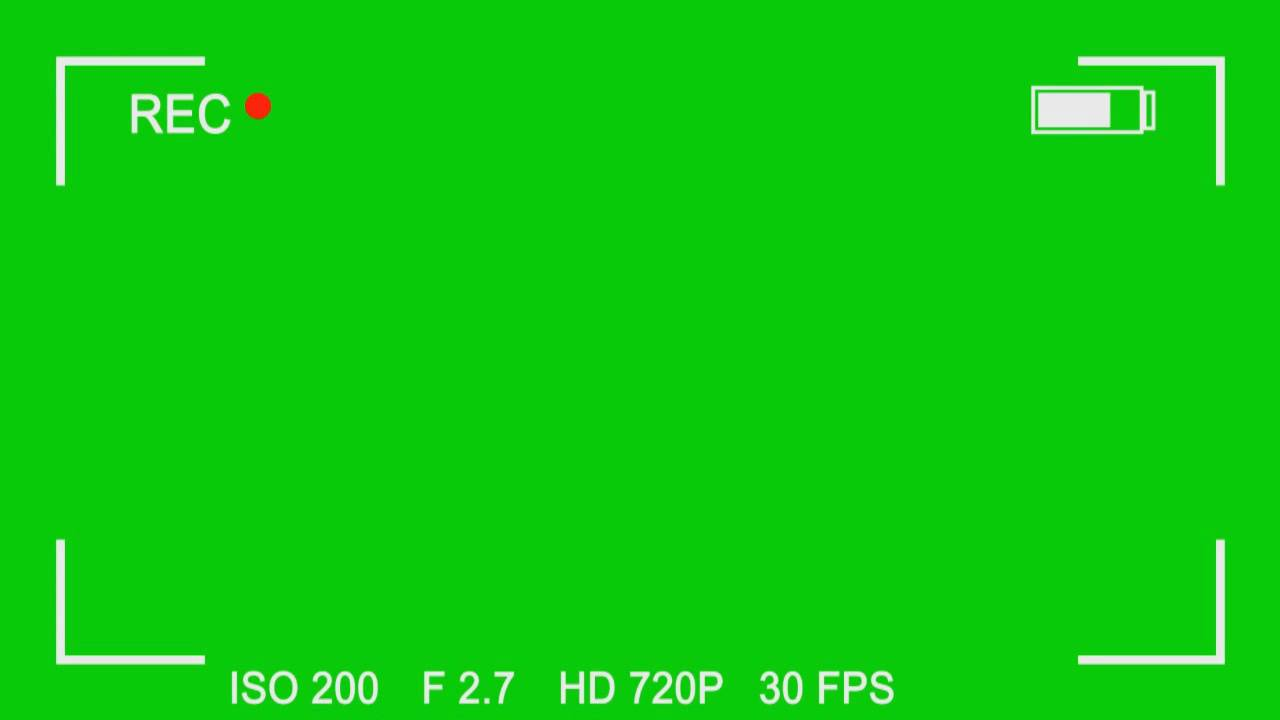 FREE Green Screen Overlay #8 - Video Camera Recording