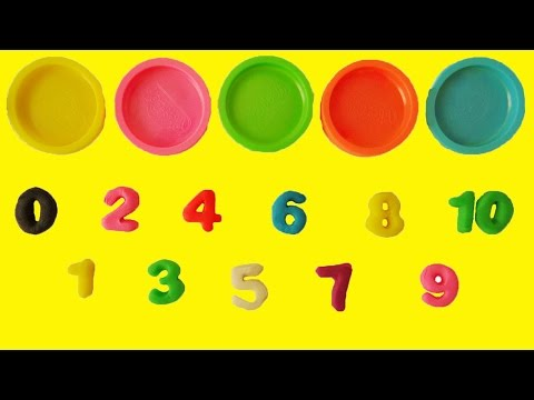 Thumbnail: Learn Colors Learn to Count 1 to 10 Counting in English Play Doh Numbers Letters n' Fun Playset