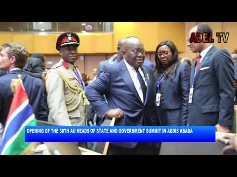 OPENING OF THE 30TH AU HEADS OF STATE AND GOVERNMENT SUMMIT IN ADDIS ABABA_AKM