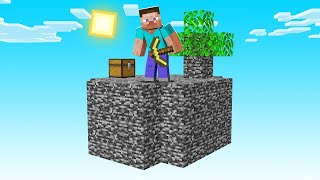 Minecraft Sky Block BUT Everything Is BEDROCK!