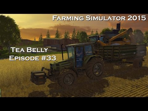 Let's Play Farming Simulator 2015 (trying Courseplay Combi Self Unload) Episode 33