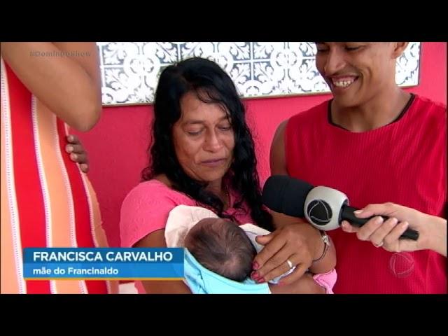 Avós realizam sonho e conhecem filho da mulher mais alta do Brasil