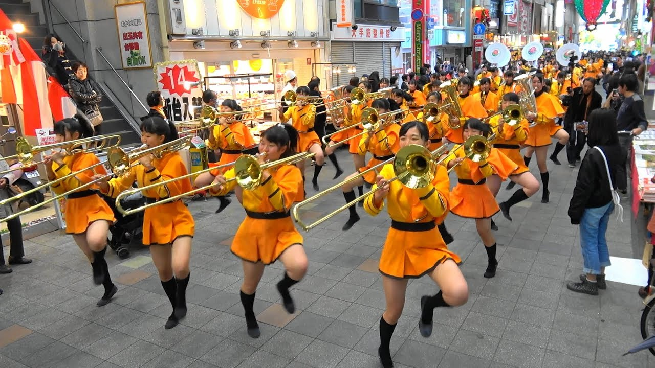 京都橘高校吹奏楽部 大手筋商店街パレード Kyoto Tachibana SHS Band #1