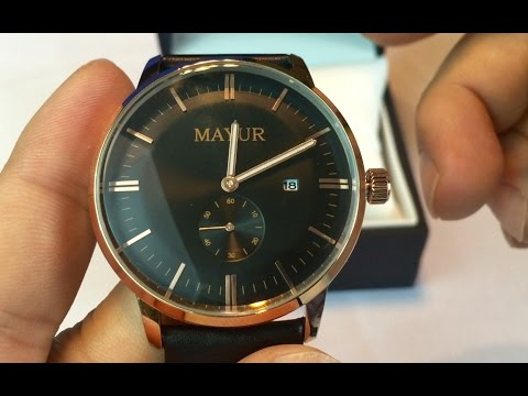 Mayur Watches Black & Gold wristwatch from the Regal collection