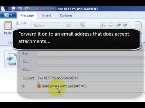 Open A Prohibited File Type In Windows Live Email