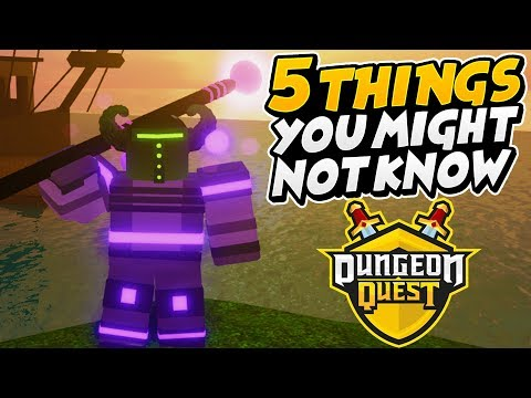 5 Things You May Not Know About Dungeon Quest Roblox Youtube