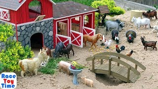 One Day at the Farm - Fun Learning Animals with Toys For Kids Video