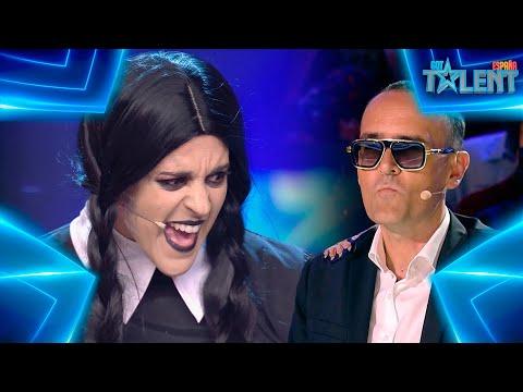 Risto SE ENAMORA de MIÉRCOLES ADDAMS tras oírla cantar   Audiciones 1   Got Talent España 7 (2021)