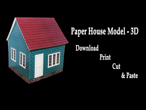 How to make a paper house (3D house model) - HD (very easy)