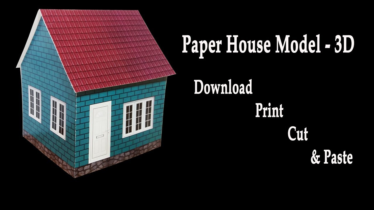 How to make a paper house 3d house model hd very easy for Build a 3d house online