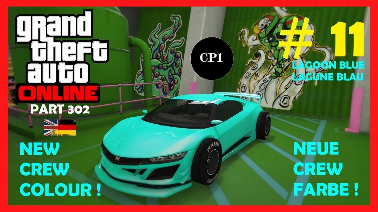 🔵 Let's play - GTA 5 Online (Part 302) New Crew Colour Neue Crew Farbe # 11 [German & English]