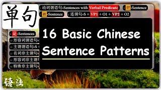 Chinese Mandarin Sentence Patterns