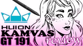 Huion Kamvas GT 191 Drawing Tablet Review & Free Coloring Page !