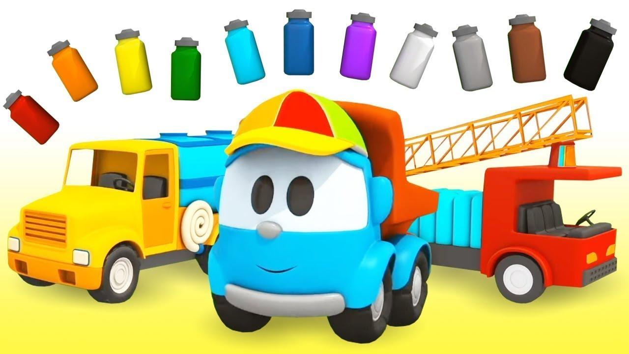 Aprenda as cores com Léo o caminhão! A loja do Lifty. Coleção dos desenhos animados em português.