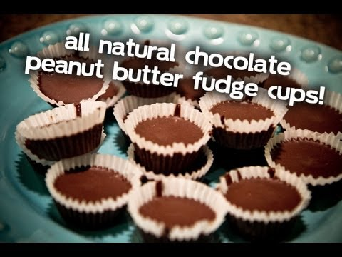 Download Youtube: All Natural Chocolate Peanut Butter Fudge Cups