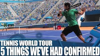 Tennis World Tour PS4 Gameplay - 5 Things We