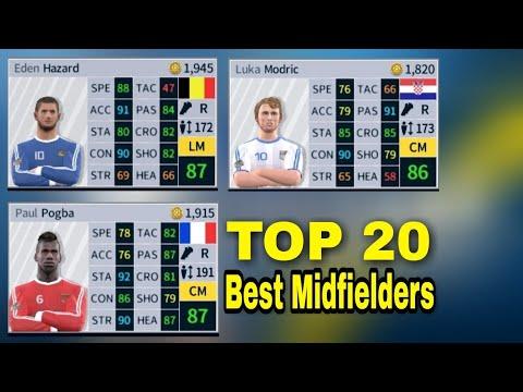 TOP 20 Best Midfielders In Dream League Soccer 2018 ft. Modric, Hazard, Pogba