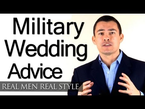 Military Wedding Style - Clothing Advice For Groom - Uniform & Sword Dress Code Tips