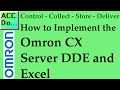 Implementing the Omron CX Server DDE and Excel