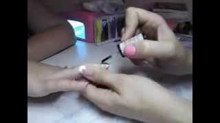 Как сделать жидкие камни на ногтях.