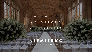Oxford Wedding by Leading wedding planner Niemierko