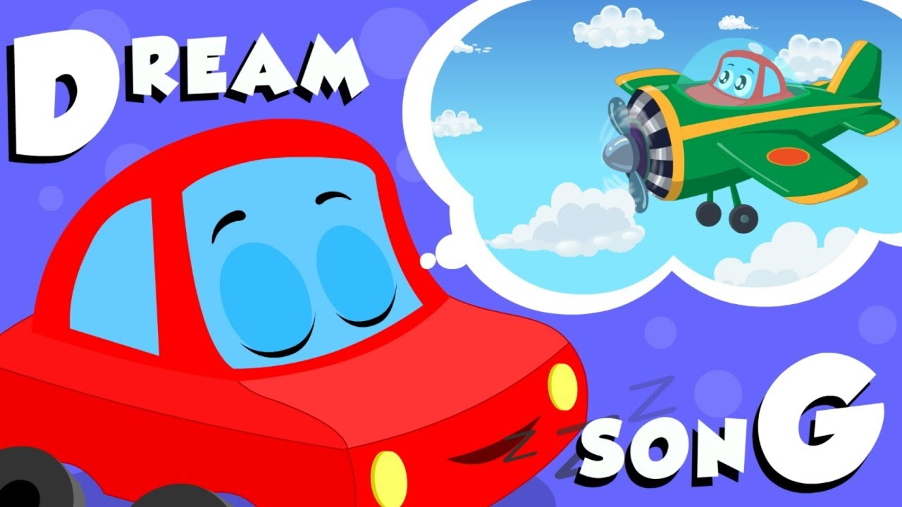 Dream Song | Little Red Car | Car Cartoons Videos For Babies by Kids Channel