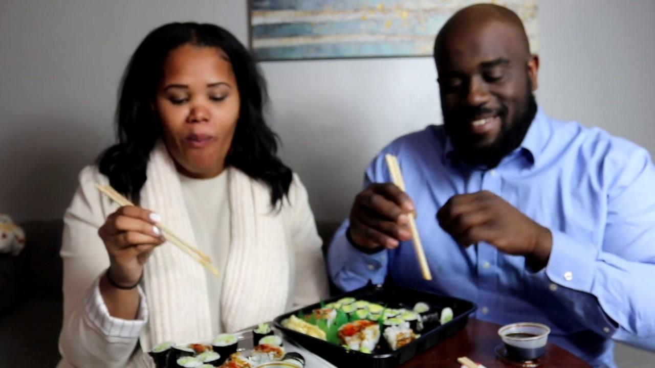 Vegan Sushi Mukbang W/ Amy J (filmed in January)