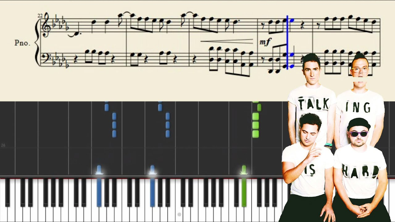 Walk the moon shut up and dance piano tutorial sheets youtube baditri Choice Image