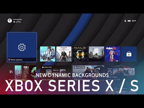 new Xbox Series X dynamic backgrounds