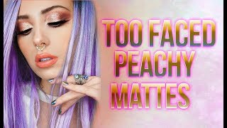 Watch Me Get Peachy | Too Faced Cosmetics Peachy Mattes Palette | Victoria Lyn Beauty