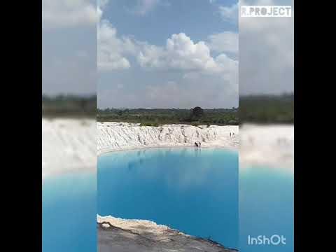 1 News Wisata Alam Bangka Belitung Danau Kaolin Air Bara Rprojectindo