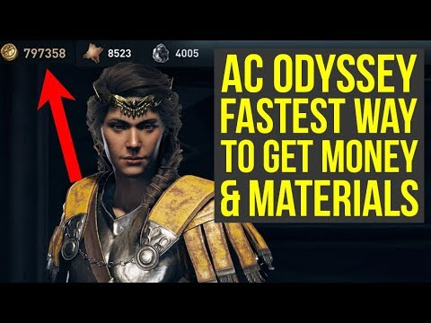 Assassin's Creed Odyssey How To Get Money & Materials BEST WAY (AC Odyssey Money - AC Odyssey tips)